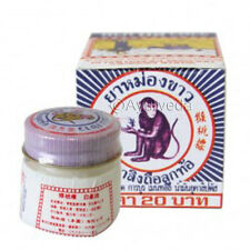 White Monkey Balm Ancient Muay Thai Herbal Massage Pain Relief Ointment 18g
