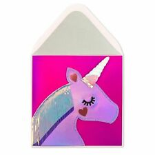 SEALED Papyrus Gorgeous Iridescent Magic Unicorn Valentines Day Card $9.95
