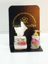 Reutter Porzellan Soap Dispenser & Tissue Set 1:12 Dollhouse Miniature