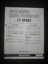 SUZUKI LT-A50K2 Set Up Manual LT A50 K2 Set-Up 99505-01141-01T Motorcycle