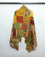 Cotton Kantha Scarf Vintage HeadWrap Stole Dupatta Hand Quilted Women Shawl SO96