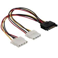 Adapter Kabel SATA Stecker auf 2 Molex von S-ATA Strom auf alten IDE Strom 20cm