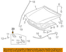 TOYOTA OEM 97-99 Camry Hood-Support Prop Rod Clip Clamp Holder 5345533011
