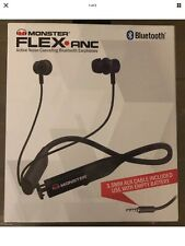NEW !!!  Monster Flex.anc active noise cancelling Bluetooth earphones 2 For 1