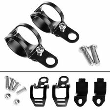 2X Black Fork Ear Clamp Motorcycle Turn Signal Light Mount Brackets Holder
