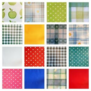 WIPE CLEAN PVC VINYL OILCLOTH TABLECLOTHS Outdoor Kids Crafting TABLE PROTECTOR