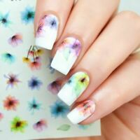 Fashion 3D Nail Art Transfer Stickers Flower Decals Manicure Decoration Tips