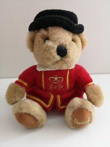 "Harrods Beefeater Bean Teddy Bear Plush Toy 6"" Inches Soft Toys Knightsbridge"