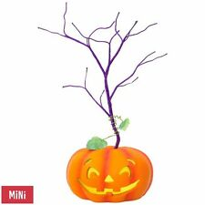 Halloween Miniature Keepsake Ornament Tree With Light Hallmark Pumpkin Magic NEW