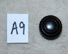 ANTIQUE / VINTAGE KNURLED RADIO KNOB - LOT A9 - MOTTLED BROWN BAKELITE - PUSH ON
