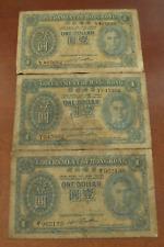 Hong Kong China ND (1940-1941) 3 $1 Dollar Circulated Notes George VI