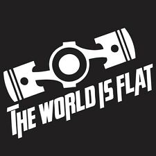 The World Is Flat Boxer Subaru Sticker Vinyl JDM Ute Car 4x4 Decal Gift Funny