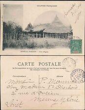 FRENCH SENEGAL 1905 PPC HOUSES...5c PEACE + COMMERCE...BAMAKO