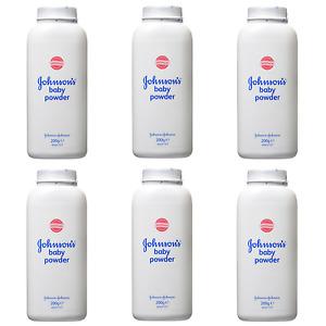 Johnson's Baby Powder 200g Talc Talcum Powder 2,3 or 6 Bottles