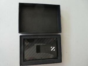 SHEVROV RFID Carbon Fiber Wallet, New in Gift Box. Minimalist Aluminum, Mens