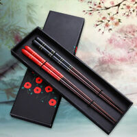 Japanese Asian Chinese Wood Chopsticks Set Gift Handmade Natural Sushi Noodles