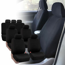 Seat Covers for 3Row 7 Seaters  SUV Van Universal Fitment Solid Black