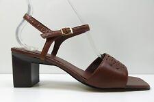 Liz Claiborne Brown Leather Ankle Strap Sandal Pump 7.5M 7.5 MSRP $79