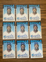 (9) Bo Jackson 1986 Topps Traded Rookie Cards Kansas City Royals