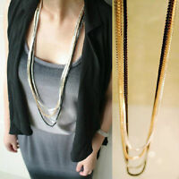 Fashion Women's 4 Layer Long Tassel Pendant Necklace Sweater Chain Jewelry Gift