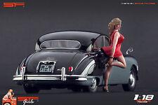 1/18 Girl in a Hurry red dress VERY RARE !! figure for1:18 CMC Autoart Ferrari