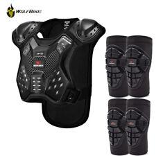 Kids Full Body Protector Armour Jacket Vest Knee Elbow Pad Guard Bike Skateboard