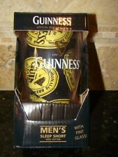 Guinness Sleep Boxer Shorts & Pint Beer Glass Gift Set Men's Small 28 - 30 NEW