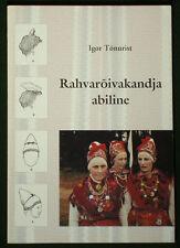 BOOK Estonian Folk Costume traditional peasant fashion European clothing jewelry
