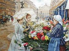 Unopened Russian Counted Cross Stitch Kit Panna Vh-1404 Parisiennes Flowers