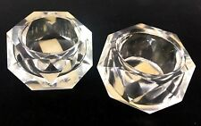 """Geary's in Japan Pair VINTAGE Tabletop Candleholders Candle Holders 1"""" x 1.5"""""""