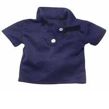 Navy Polo Top Fits 18 inch American Girl Doll