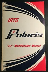 VERY RARE ORIGINAL 1975 POLARIS TX MODIFICATION OWNERS MANUAL SELDOM SEEN
