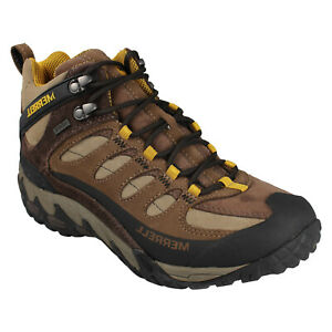 MENS MERRELL REFUGE CORE MID WATERPROOF J39667 LACE UP WALKING ANKLE BOOTS SIZE