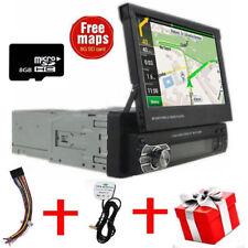 7 1 DIN AUTORADIO MIT GPS Navigationsgerät EU Karte Rückfahrkamera BLUETOOTH
