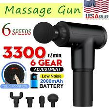 Massage Gun Percussion Massager Deep Tissue Muscle Vibrating Relaxing Body Leg