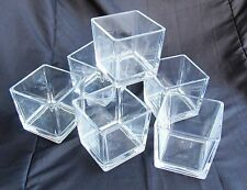 Quadratische moderne Deko-Tischvasen aus Glas