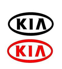 2 x KIA CAR STICKERS DECAL 150mm x 80mm  IN VARIOUS COLOURS  CEED SPORTAGE RIO