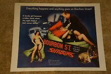 BOURBON STREET SHADOWS  INVISIBLE AVENGER  HORROR  HALF SHEET R1962