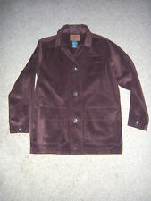 NEW TRENDY  Ralph Lauren Womens Size SMALL  Suede Leather Shirt Jacket style