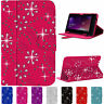 Universal Diamond Bling Leather Stand Case Cover Pouch For All 7 Inch Tablets