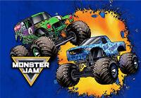 Monster Jam Trucks - Home Range -Blue Thunder Grave Digger -Polyester pillowcase