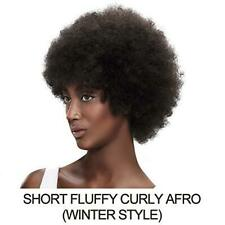 Afro kinky Curly Short Human Hair Wig #2 Length: 5 Inch, Color: Dark Brown