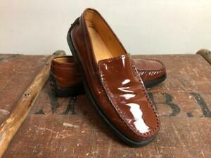TOD'S Women's Brown Glossy Patent Loafers Size EU35 (UK2-3)