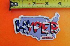 HYPER Wheels USA Map America Rare Blades Skates H Vintage INLINE Skating STICKER