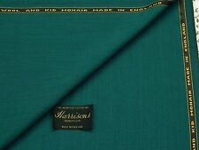 WOOL/KID MOHAIR, BOTTLE GREEN SUITING FABRIC, 3.5M - MADE IN ENGLAND