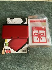 Nintendo 3DS XL rojo y negro con sistema Portátil Usado-Solo Consola Sin Cargador,