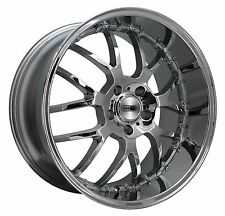 (1) HD Wheels Rims MSR 18x9.0 5x112 et42 Chrome Finish