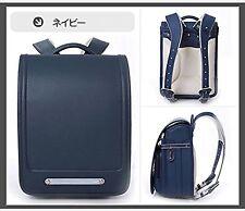 Qwawa Randoseru Randsel Japanese Style School Backpack A4 File OK Navy