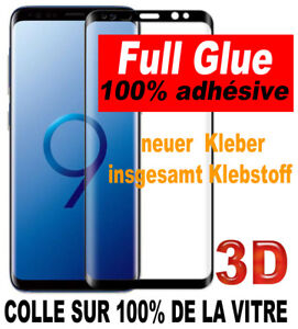 Verre trempé SAMSUNG GALAXY S9 S8+ PLUS FULL Colle Tempered Glass Glas Klebstoff