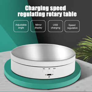 360° Rotating Turntable Mirror Display Stand Show Rotary Electric Holder Rack AU